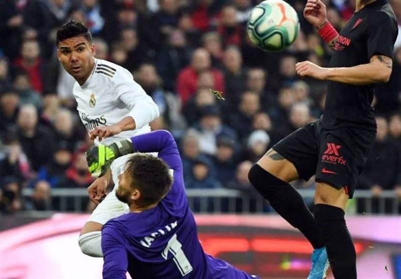 لالیگا، رئال مادرید با گل های کاسمیرو، سویا را شکست داد و صدرنشین شد