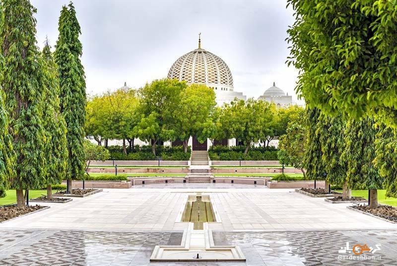 مسجد جامع سلطان قابوس از جاذبه های زیبای مسقط، عکس