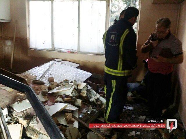 ریزش دیوار منزلی در تبریز