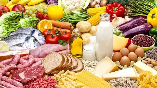 6 گروه اصلی غذایی و سهم شان در تغذیه روزانه