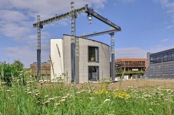 ساخت خانه دو طبقه با بزرگترین چاپگر 3بعدی اروپا
