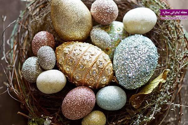 طرز تهیه تخم مرغ رنگی سفره هفت سین