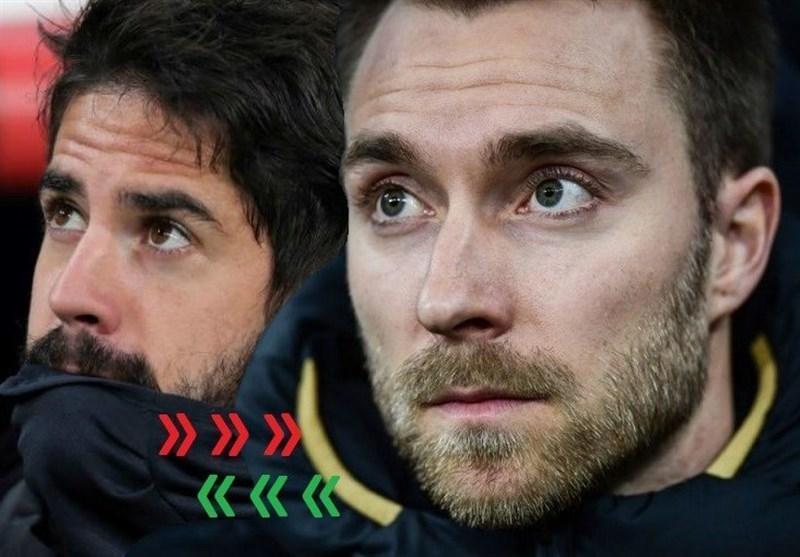 اینتر و رئال مادرید به دنبال معاوضه اریکسن و ایسکو
