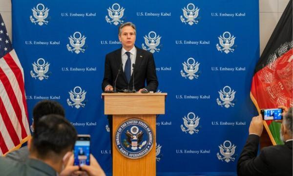 بلینکن: آمریکا از افغانستان دست بر نمی دارد