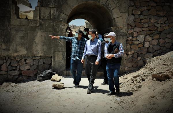 بازدید رئیس بنیاد مستضعفان از پروژه عظیم ساخت سریال سلمان فارسی