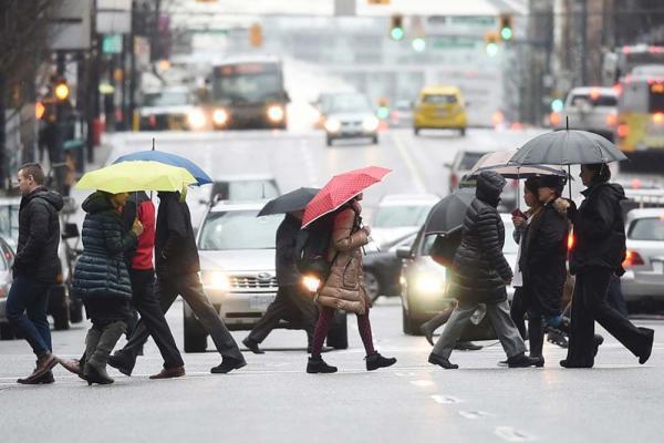 تور کانادا: آب و هوای ونکوور در آخر این هفته بارانی است