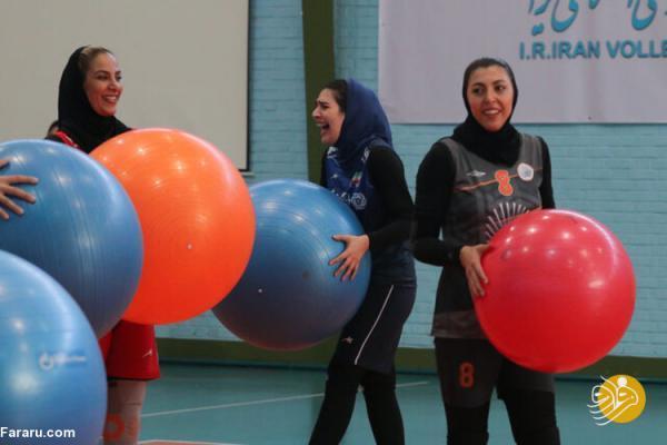 تصویری عجیب از والیبال زنان ایران!